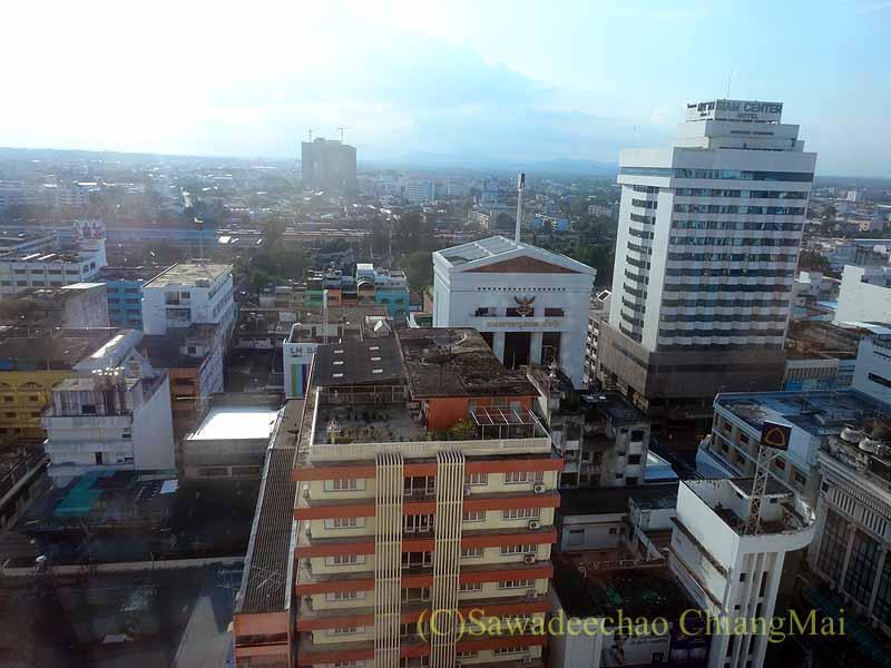 タイ南部の街ハジャイにあるセンタラホテルハジャイの客室からの眺め