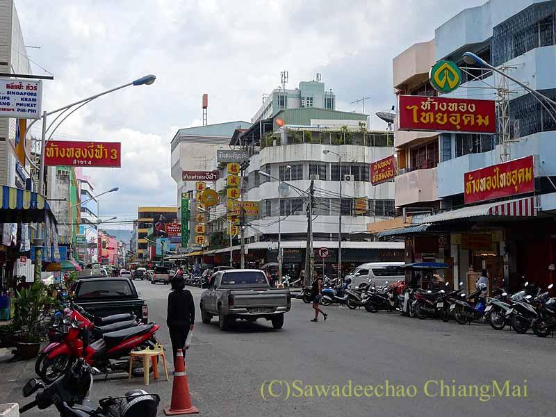 タイ南部の街ハジャイの中心部の風景