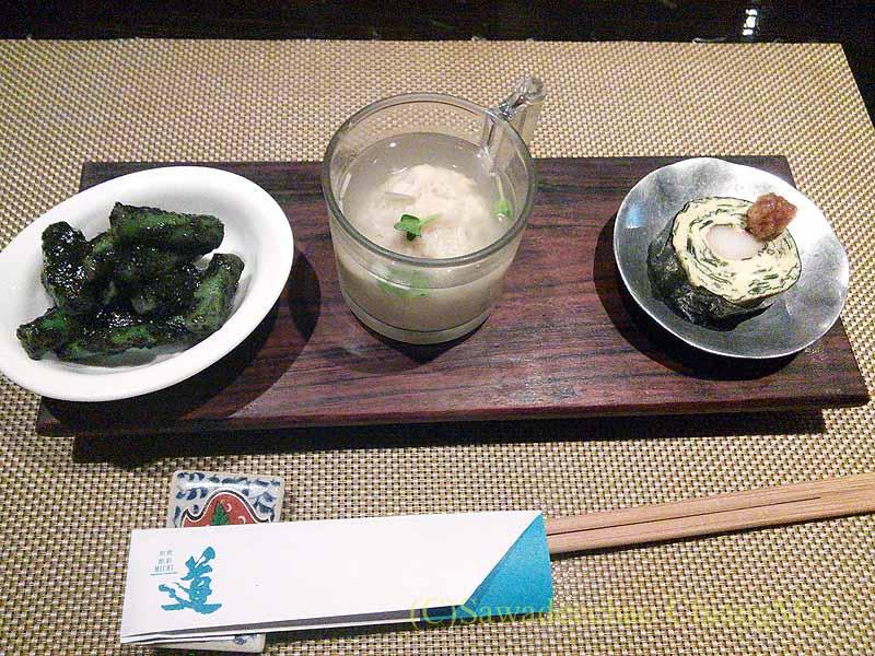 バンコクのタニヤ通りにある日本料理店「道」のお通し