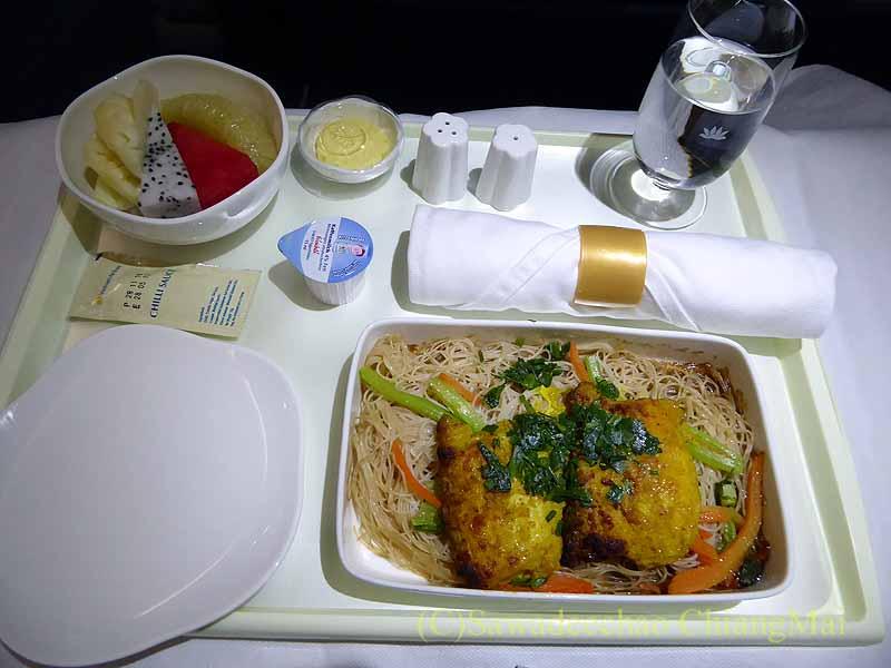 ベトナム航空VN603便のビジネスクラスで出た機内食全景