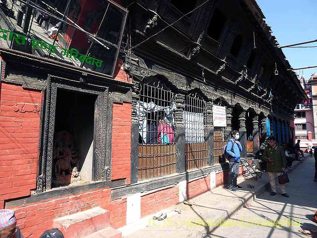 ネパール、パタンの旧市街の長屋