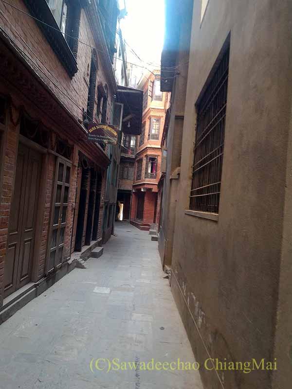 ネパール、パタンの旧市街の路地