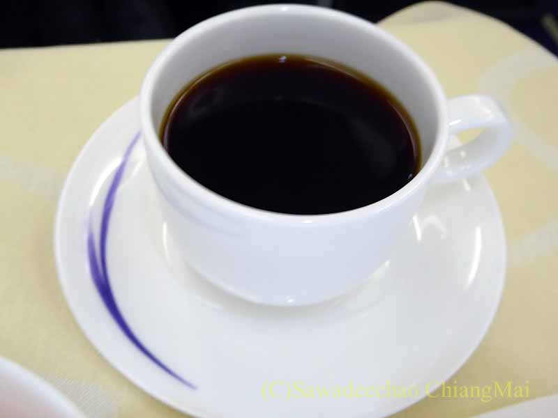 チャイナエアラインCI838便ビジネスクラスで出たコーヒー