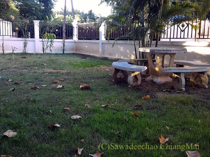 チェンマイの自宅のメインの庭