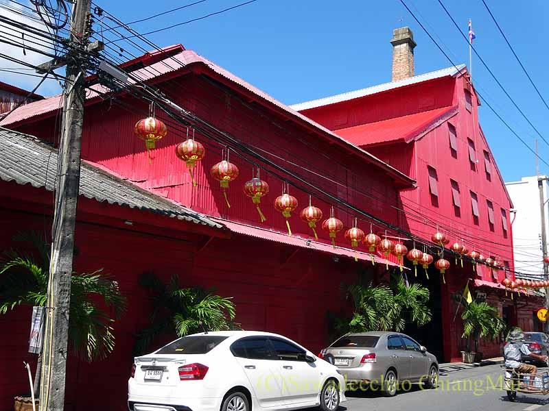 タイのソンクラーの中国人の古い家が並ぶシンゴラ旧市街の米倉庫