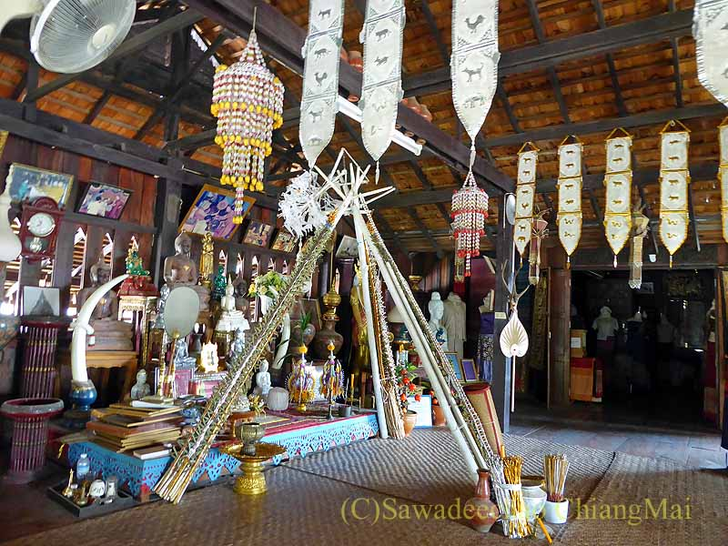 ラムプーンあるタイヨーン族寺院ワットトンケーオの祭事スペース
