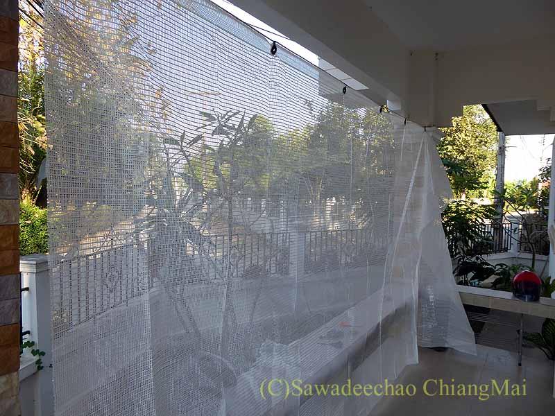 チェンマイの自宅に取り付けている日よけネット