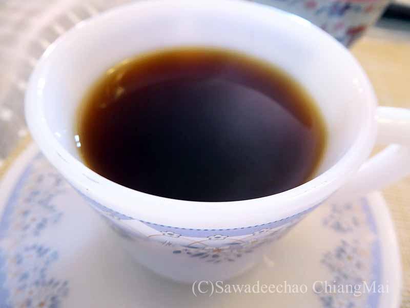 ネパールのパタンにある一般家庭で出されたコーヒー
