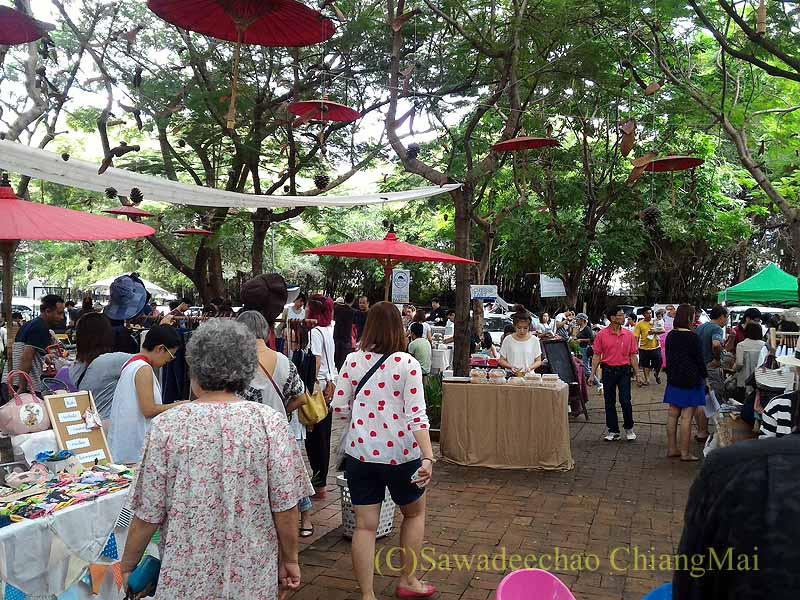 チェンマイのJJマーケット日曜安全食品市概観