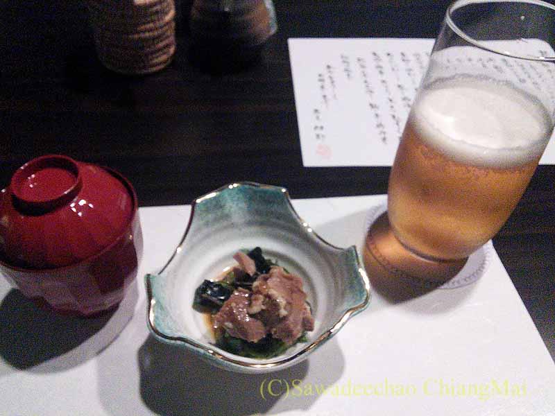 バンコクにある隠れ家的な高級懐石レストラン一味膳の突き出し
