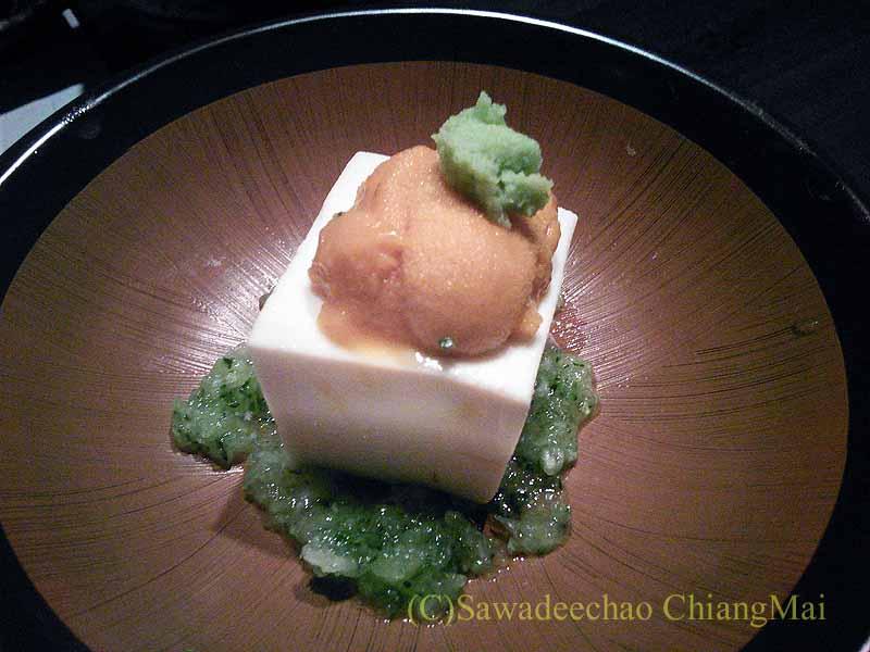 バンコクにある隠れ家的な高級懐石レストラン一味膳のうに豆腐