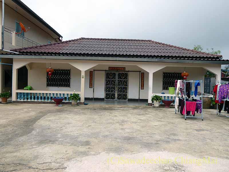タイ最北部のチェンラーイ県メーサローンの住宅