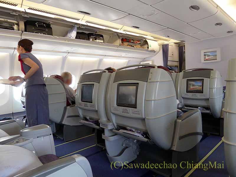 チャイナエアライン(中華航空)CI107便ビジネスクラス