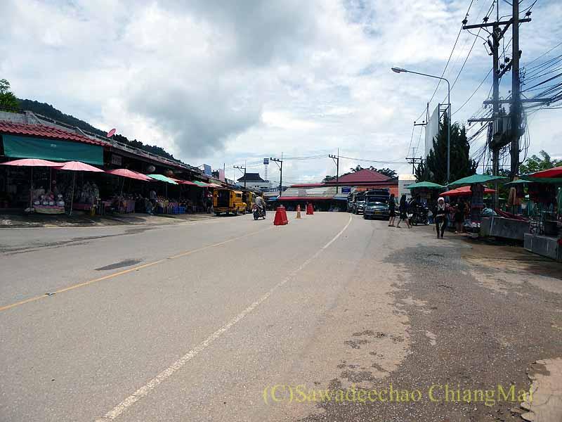 タイ最北部のチェンラーイ県メーサローンの新中心部
