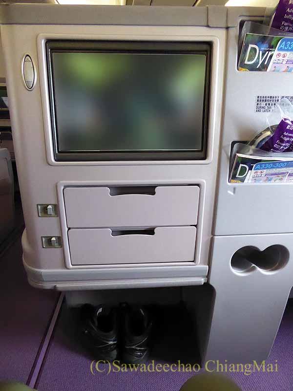 チャイナエアライン(中華航空)CI835便のシート