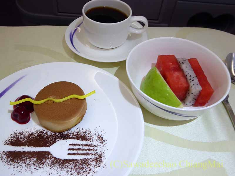 チャイナエアライン(中華航空)CI835便で出た機内食のデザート