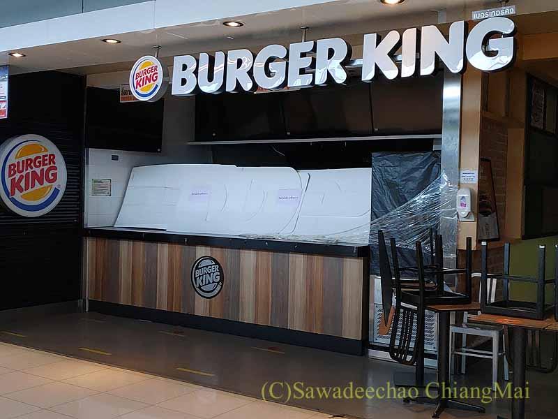 コロナ禍で閉店しているスワンナプーム空港のバーガーキング