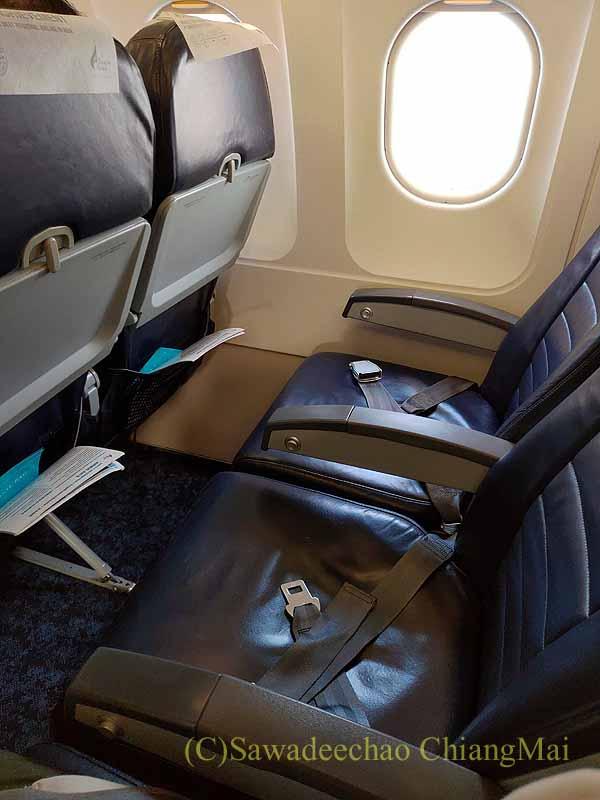 バンコクエアウェイズPG219便のシート