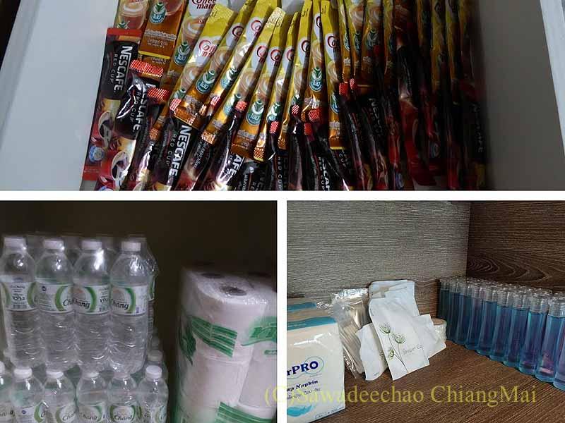 バンコクの隔離措置施設THE VERTICAL SUITEの備品