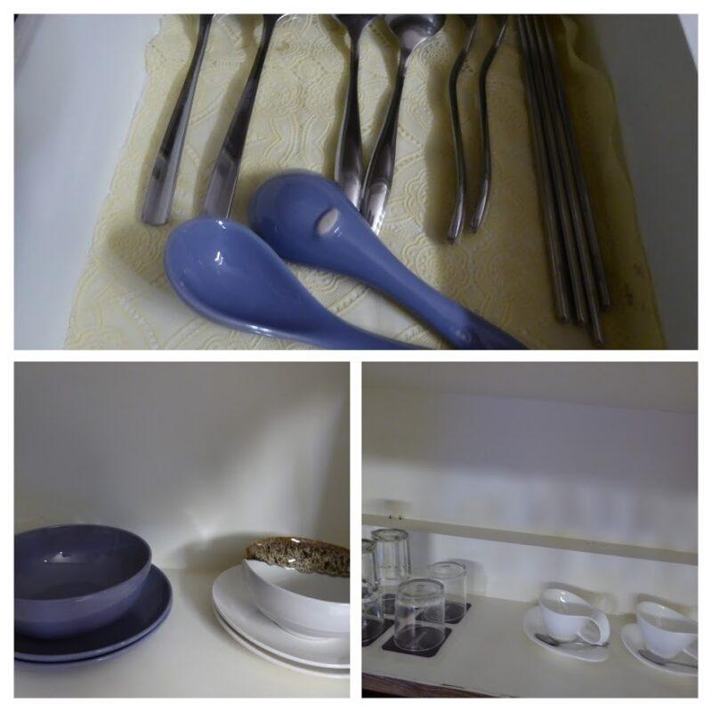 バンコクの隔離措置施設THE VERTICAL SUITEの食器類