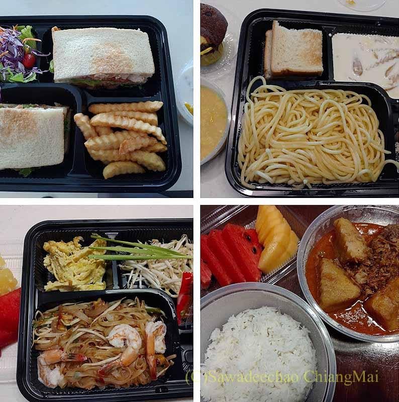 バンコクの隔離措置施設THE VERTICAL SUITEの食事(2)