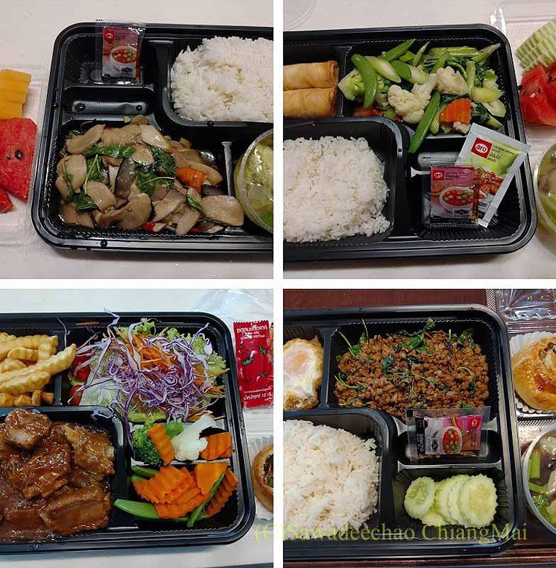 バンコクの隔離措置施設THE VERTICAL SUITEの食事(3)