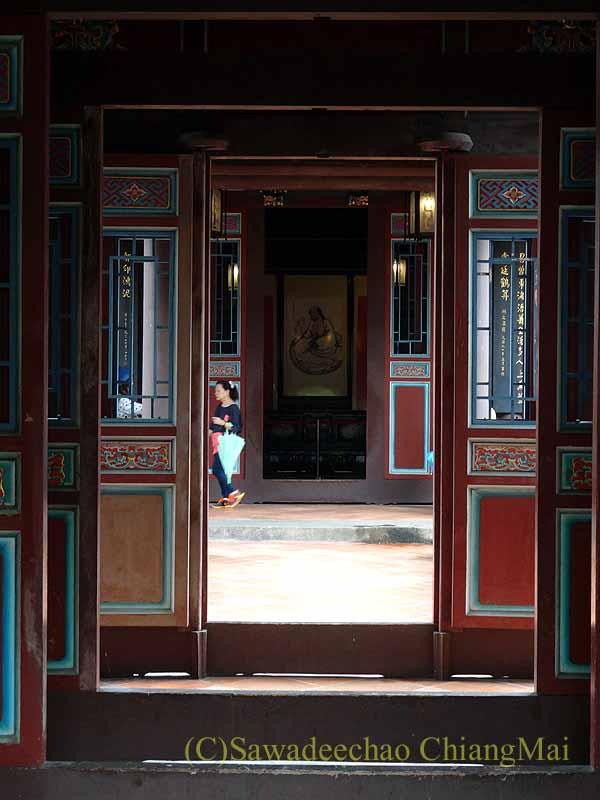 台北郊外にある昔の豪邸と庭園、林本源園邸の定靜堂