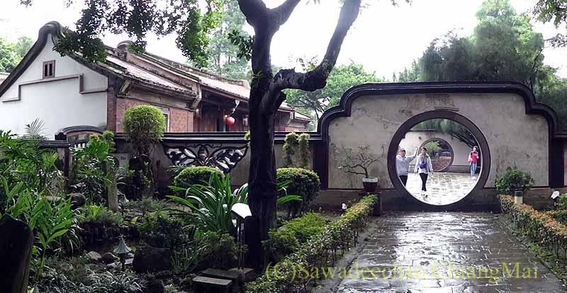 台北郊外にある昔の豪邸と庭園、林本源園邸の入口