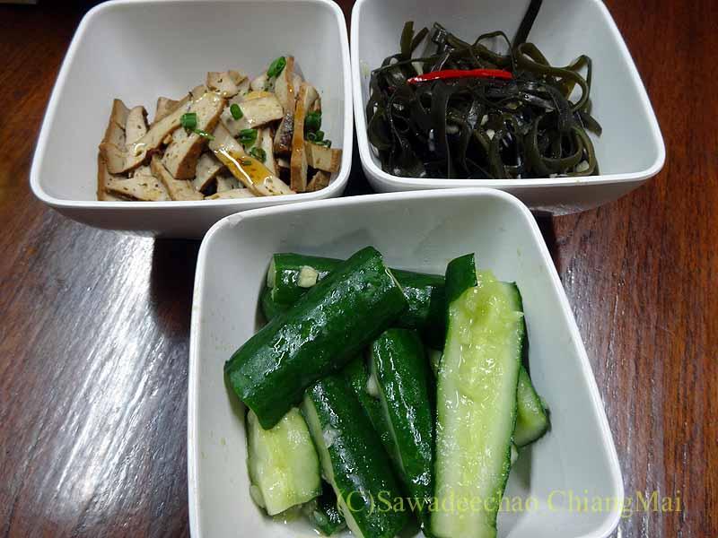 バンコクある台湾系中華レストラン永和豆漿の突き出し