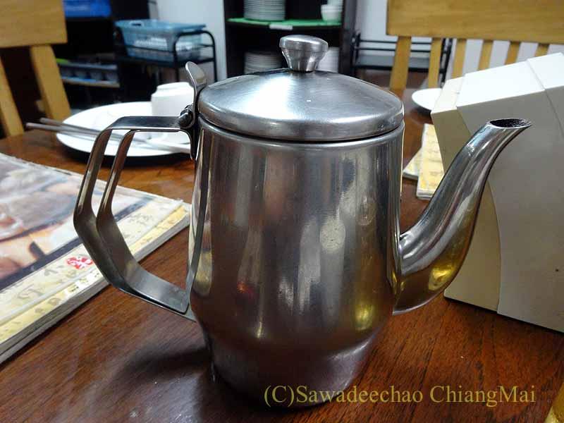 バンコクある台湾系中華レストラン永和豆漿の中国茶