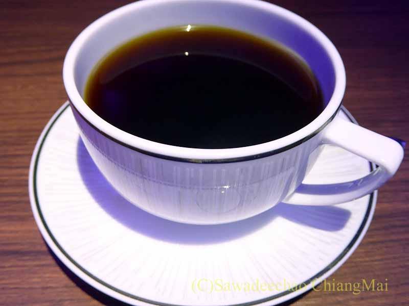 タイ国際航空TG121便ビジネスクラスで出た機内食のコーヒー