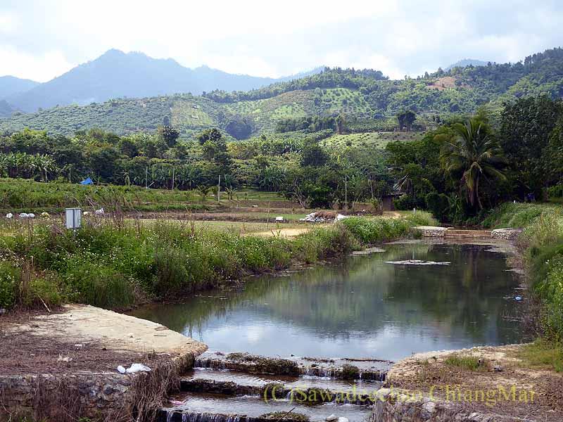 タイのチェンマイ県ファーン郊外の風景