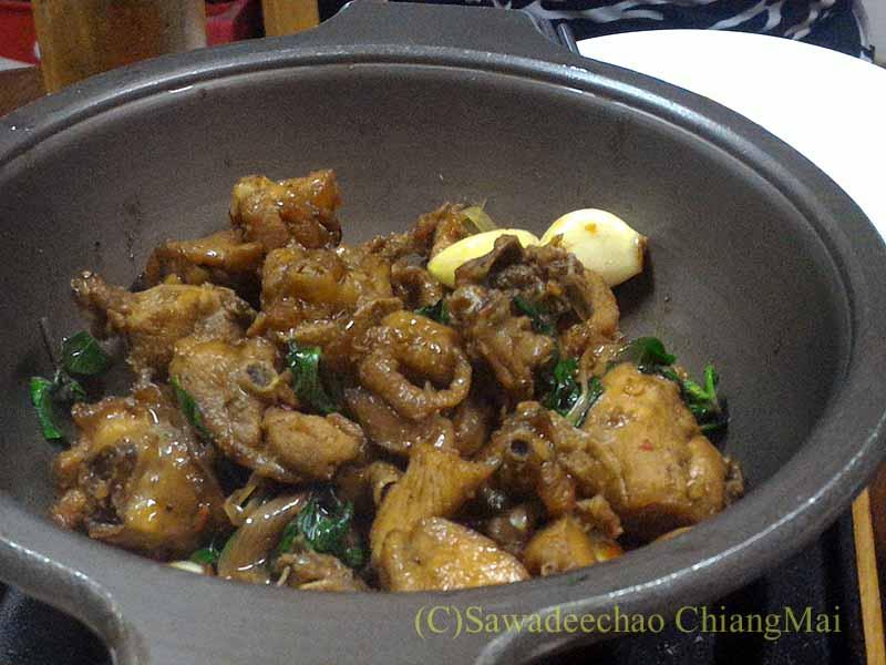 バンコクある台湾系中華レストラン永和豆漿の鶏肉炒め