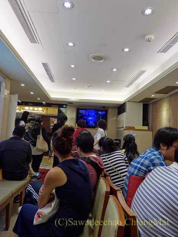 台北にある飲茶レストラン京星港式飲茶Part2の待合スペース