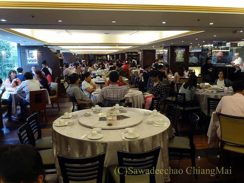 台北にある飲茶レストラン京星港式飲茶Part2の店内概観
