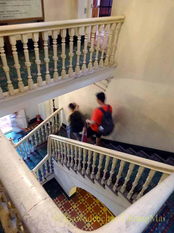 台湾の首都台北近郊の街、淡水の紅毛城の領事館の階段