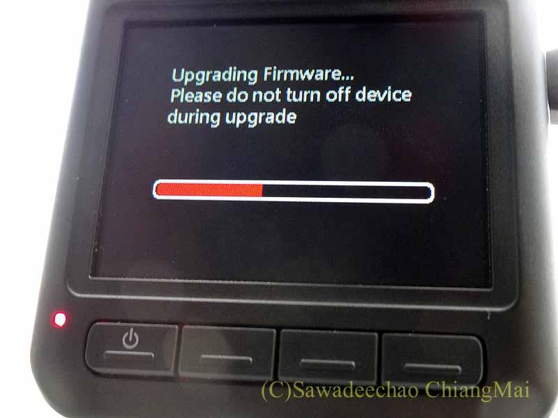 チェンマイの自家用車用ドライブレコーダーのアップデイト
