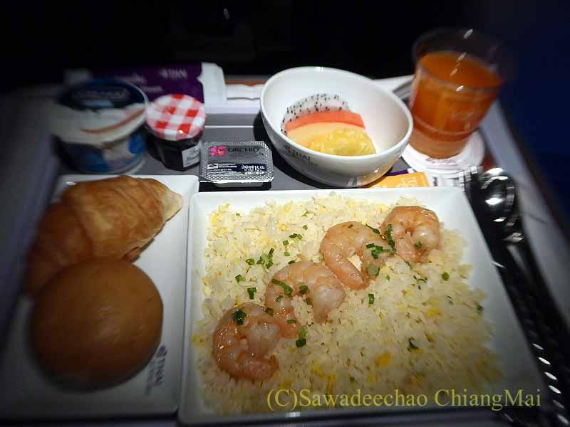 タイ国際航空TG642便ビジネスクラスで出た機内食