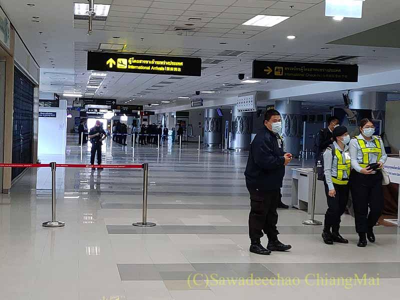 コロナ禍で閉鎖中のチェンマイ空港国際線ターミナル