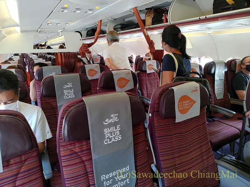 タイスマイル航空WE111便バンコク行きのキャビン