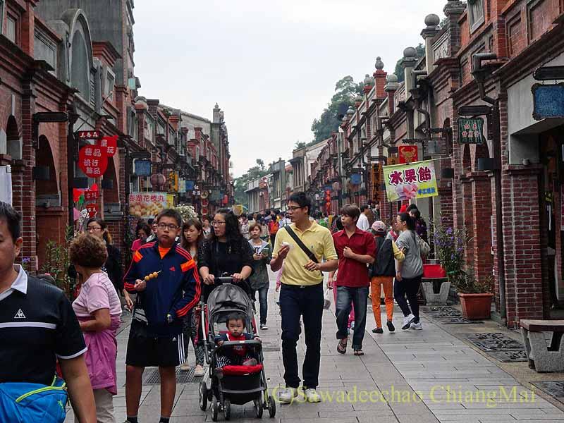 台北郊外にある古い街並みで有名な街、三峡