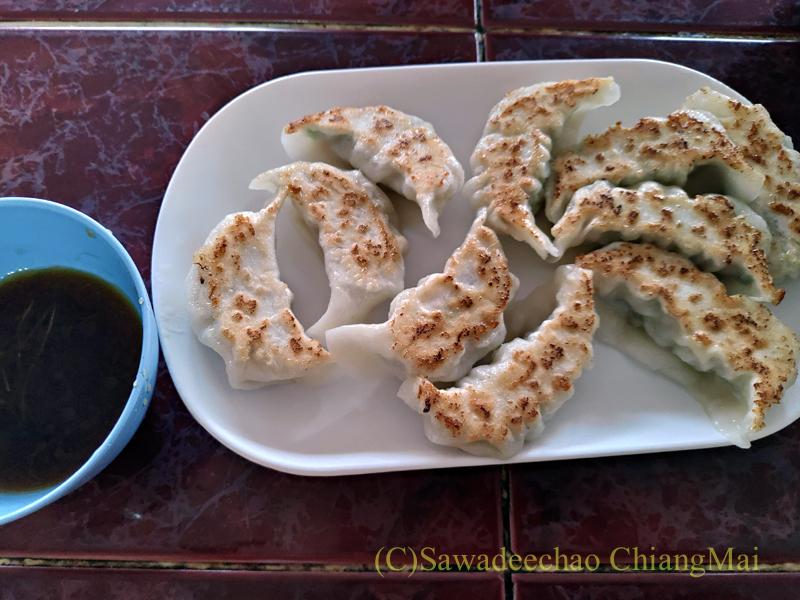 チェンラーイ県メーサローンの雲南麺餃館の餃子