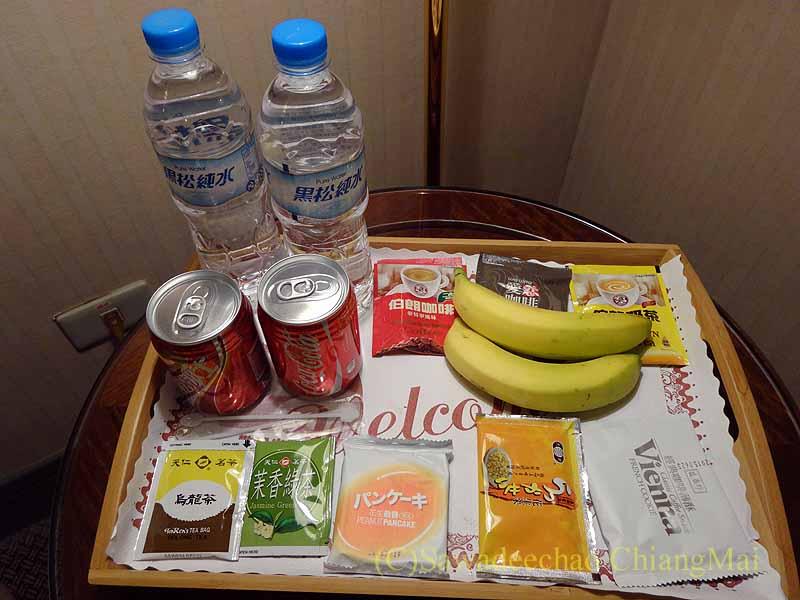 台湾の桃園にあるマジェスティホテルの無料の飲食物
