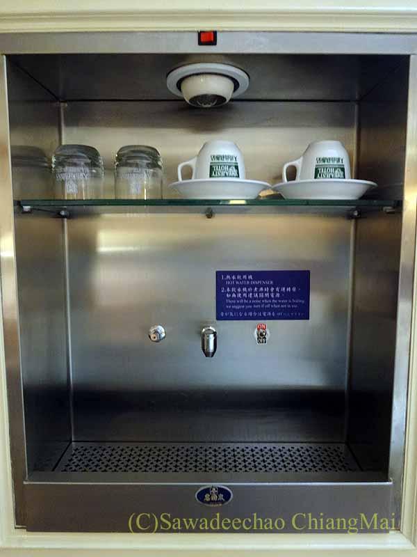 台湾の桃園にあるマジェスティホテルの給湯器