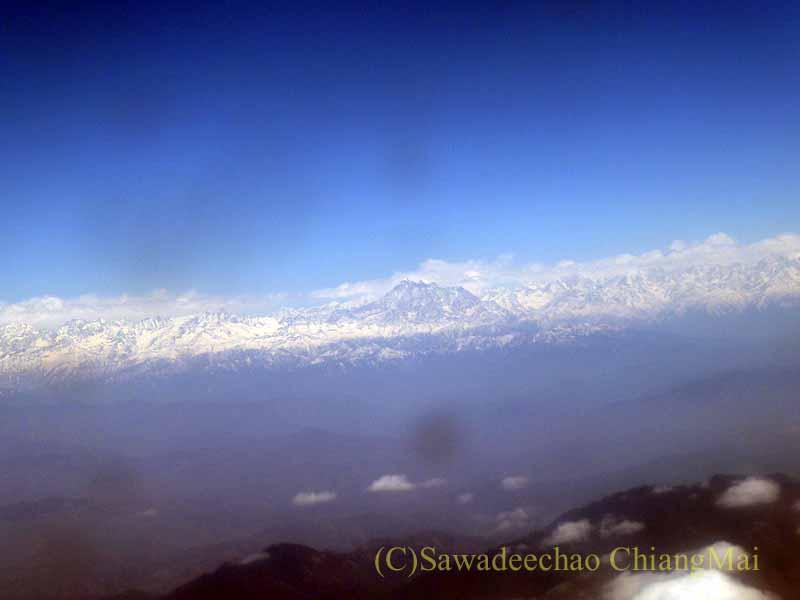 タイ国際航空TG319便カトマンズ行きから見たアンナプルナ山系