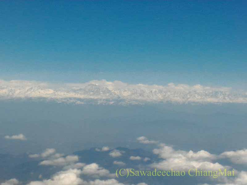 タイ国際航空TG319便カトマンズ行きから見たヒマラヤ山脈東部