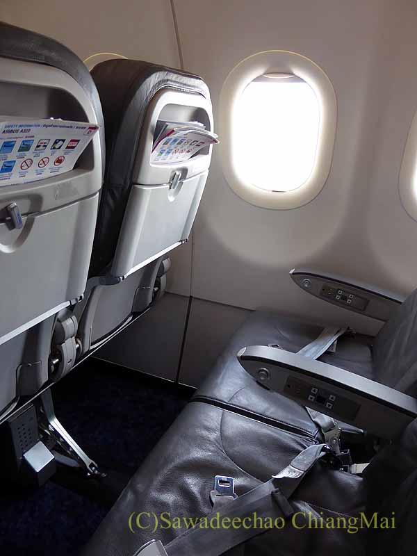 バンコクエアウェイズPG226便のシート