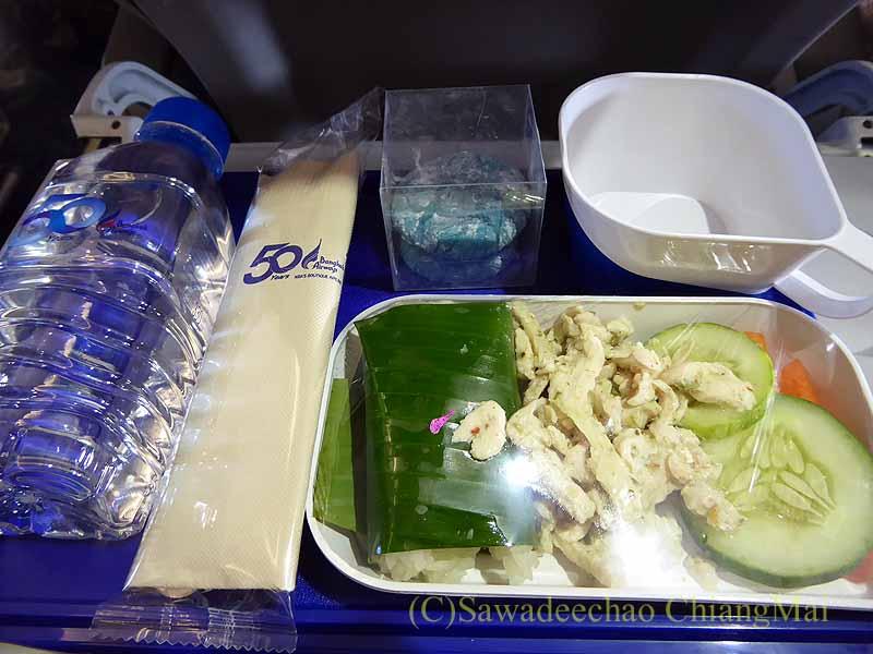 バンコクエアウェイズPG226便で出た機内食全景