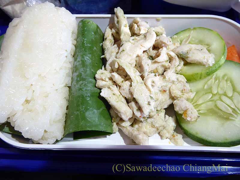 バンコクエアウェイズPG226便で出た機内食のメインディッシュ