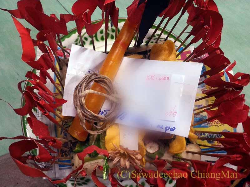 チェンマイの寺院での厄祓いの儀式